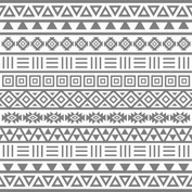 Aztec Influence Grey on White