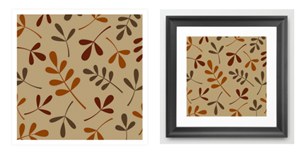 assorted fall leaf print