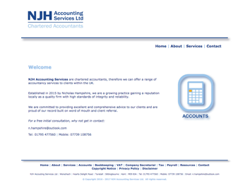 njhampshire acounting services website page