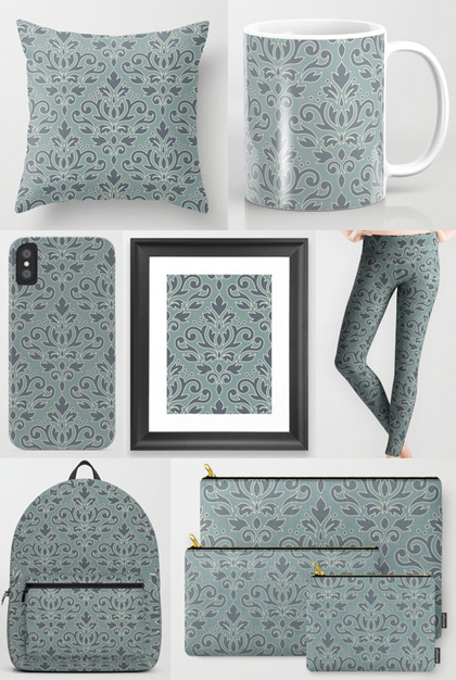 society6 damask selection